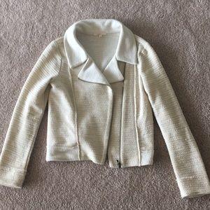 Jackets & Blazers - Cream shimmery light sweater